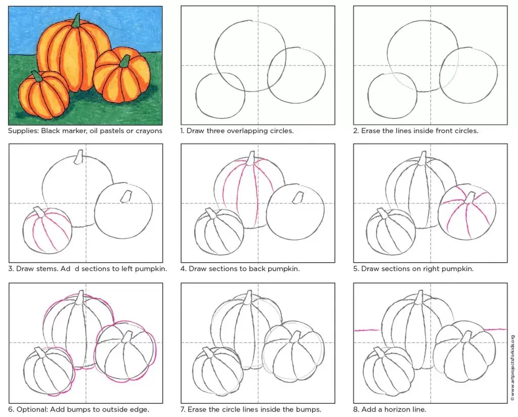 Pumpkin Drawing Art Projects For Kids