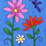 How To Draw Flowers Art Projects For Kids