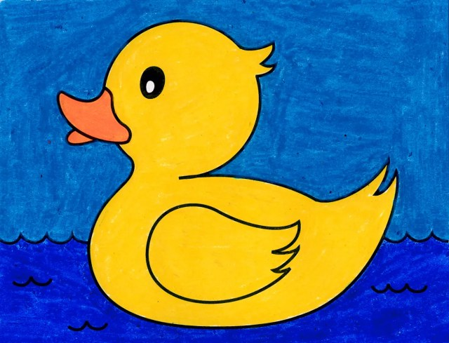 How to Draw a Rubber Duck · Step by Step Drawing Lessons for Kids