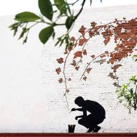 Subtractive art by Pejac