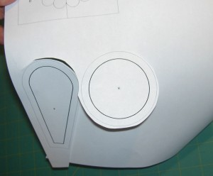 Rough cut templates out of pattern sheet