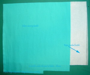 Cover fabric with fusible