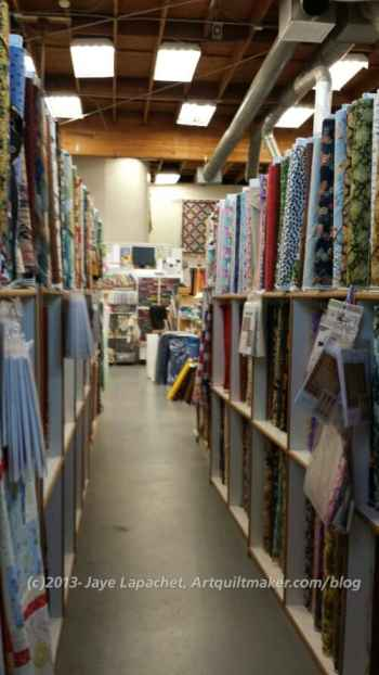 Rows and rows of fabric