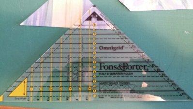 Fons & Porter Half/Quarter Square Triangle Ruler