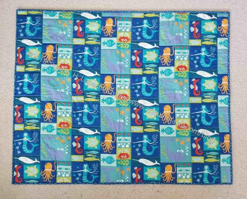 Finished: Sealife quilt-let