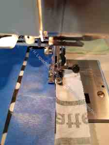 Sew along the tape