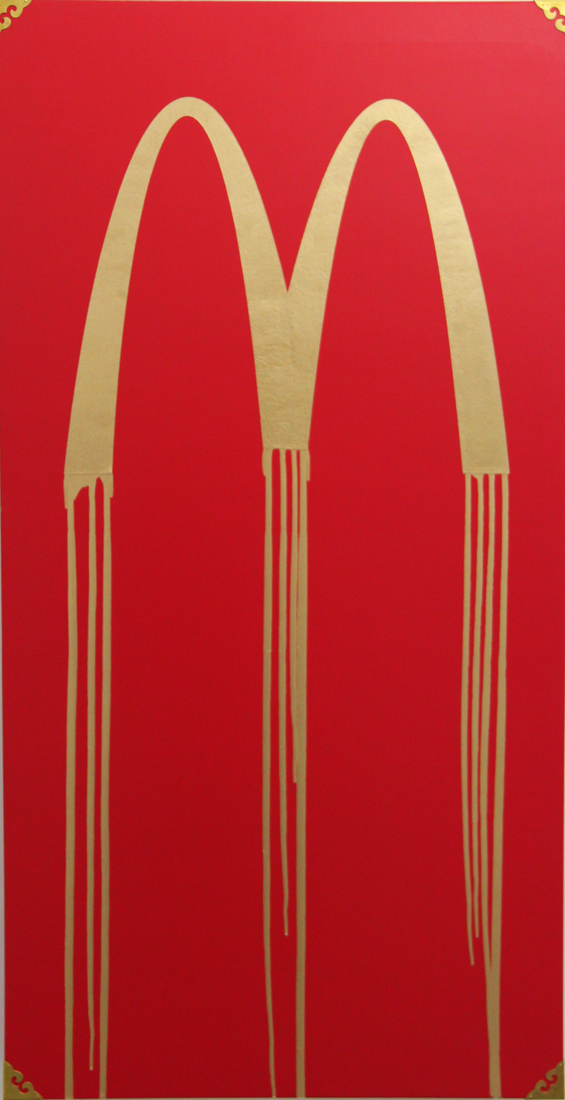 Liquidated McDonald, by Zevs, 2009. Oil on wood. 120 x 62 cm. HK$98,000