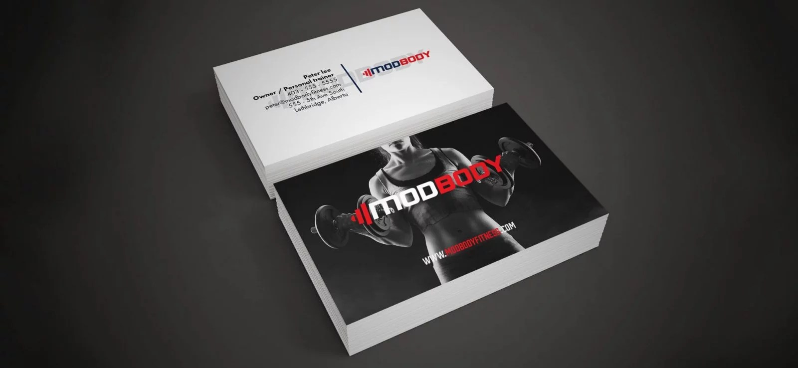 ModBody - Business Card Design - Lethbridge Alberta