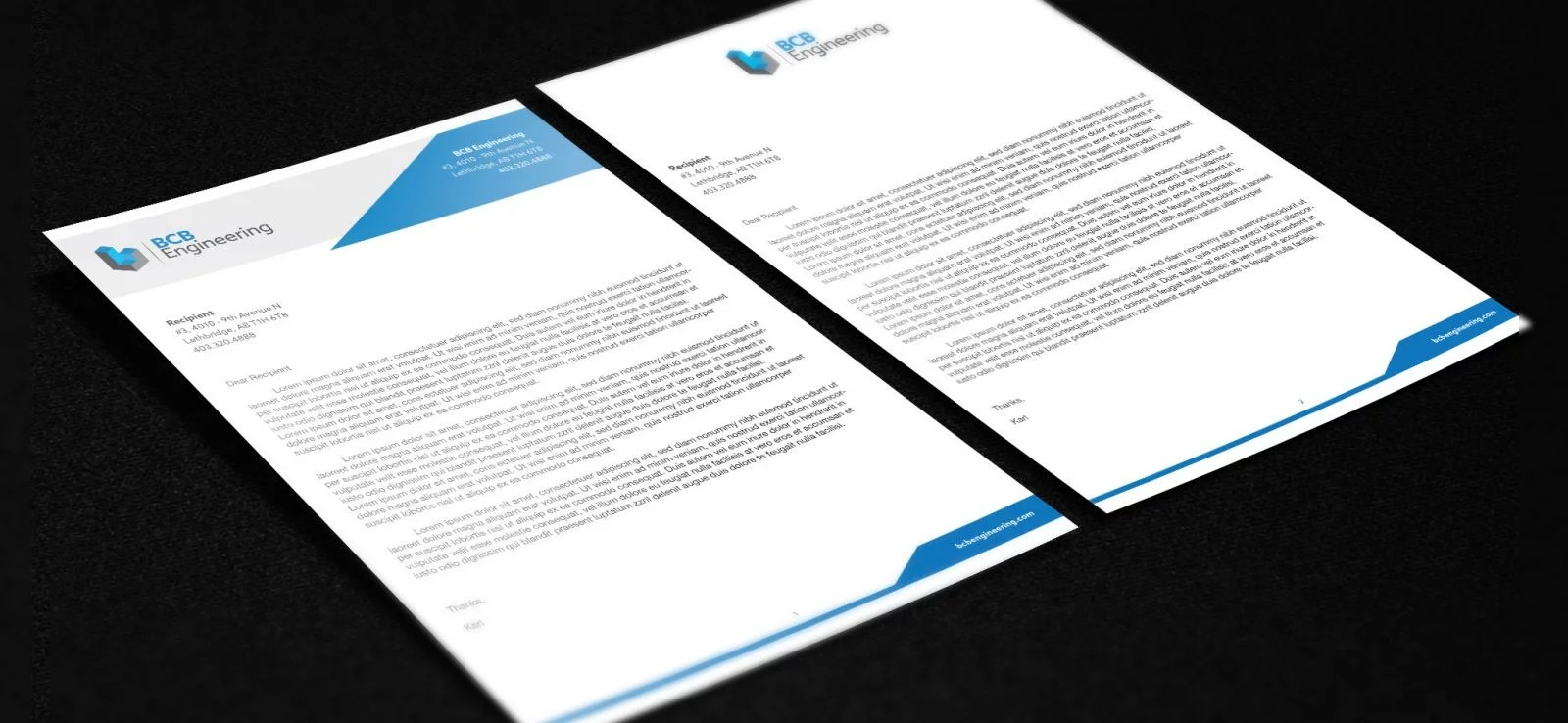 BCB Engineering - Letterhead Design