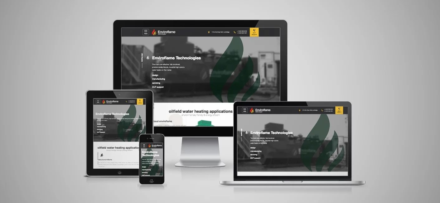 Enviroflame Technologies - Custom Web Design - Lethbridge, AB