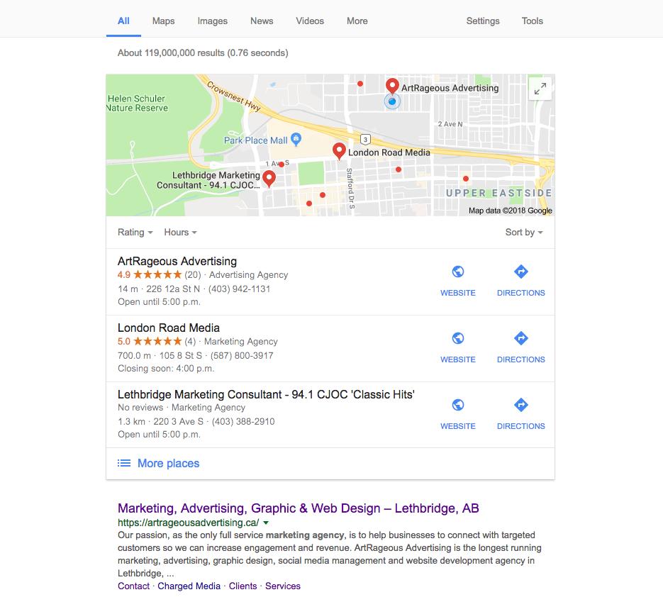 Google Review - SEO - Screenshot