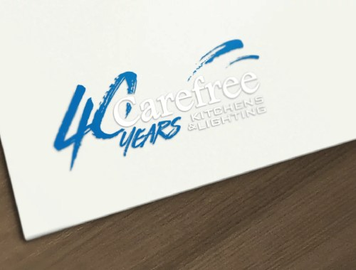 Logo Design Mockup for Carefree Kitchens and Lighting