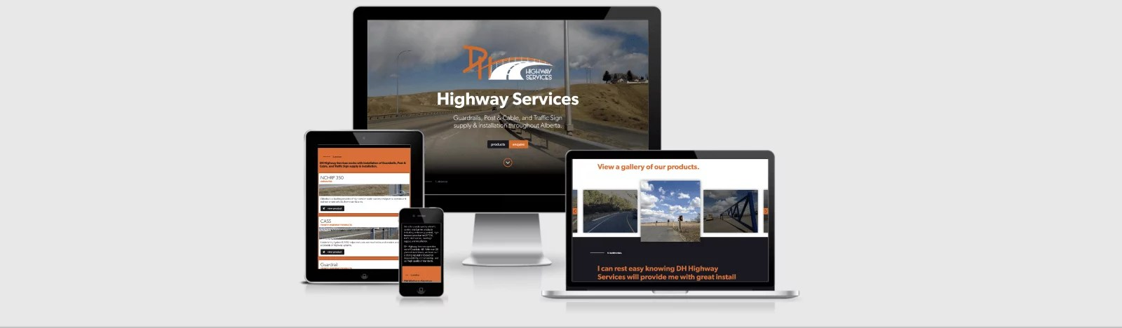 Web Design Markup for DH Fencing Services by Artrageous Advertising