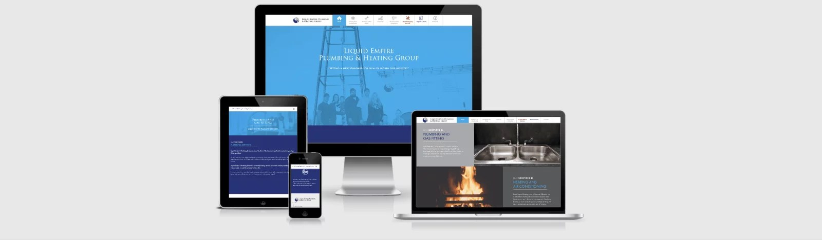Web Design Markup for Liquid Empire Plumbing & Heating by Artrageous Advertising