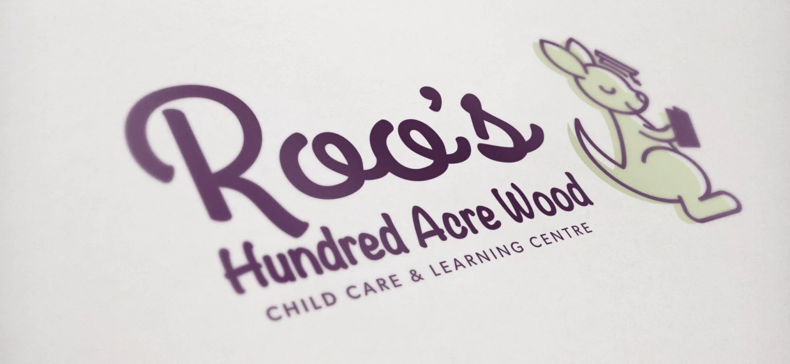 Logo Mockup for Roo's Hundred Acre Wood