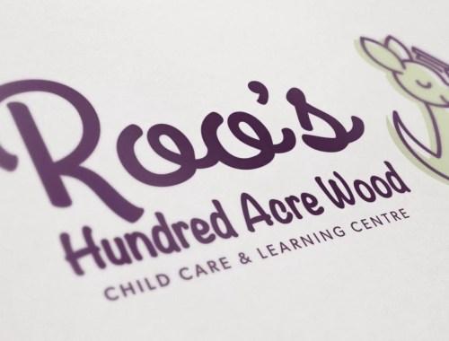 Logo Mockup for Roo's Hundred Acre Wood
