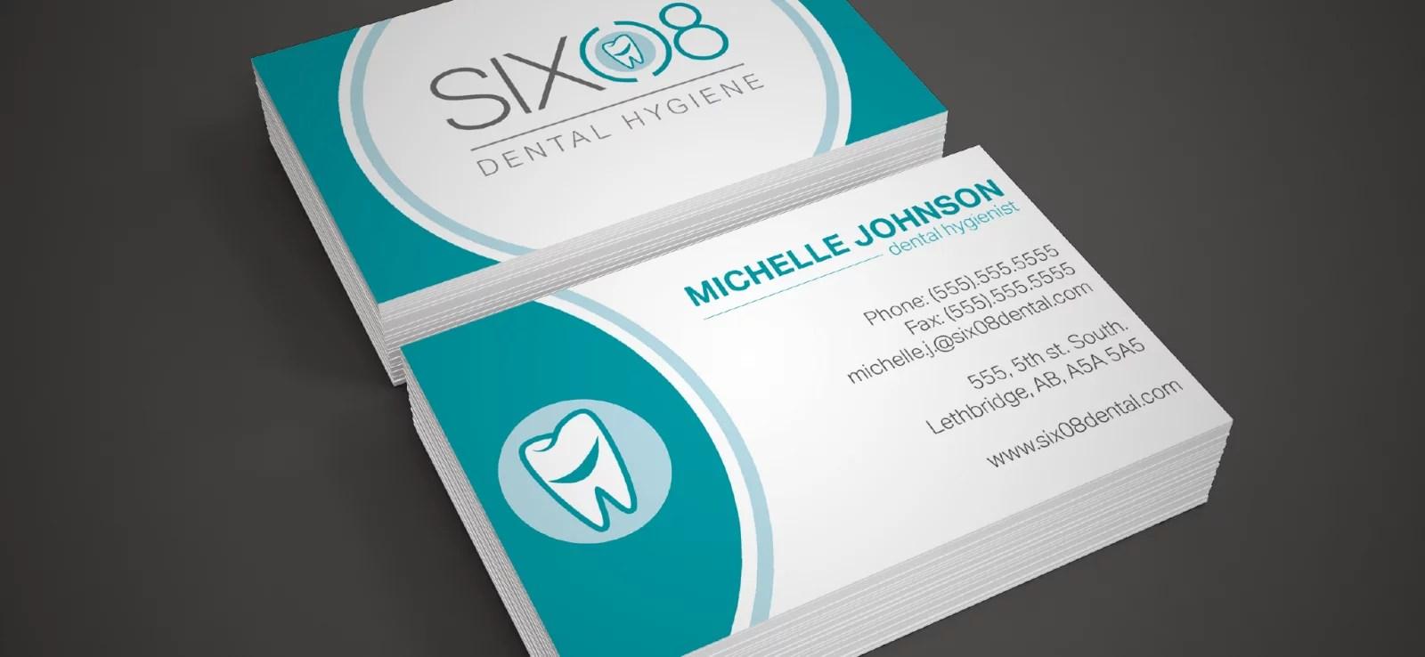 Business Card Mockup for Six 08 Dental Hygiene