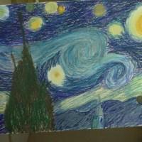 Van Gogh Hatch Drawing