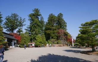 毛越寺の庭園の風景