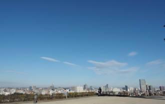 仙台城跡公園からの仙台の風景