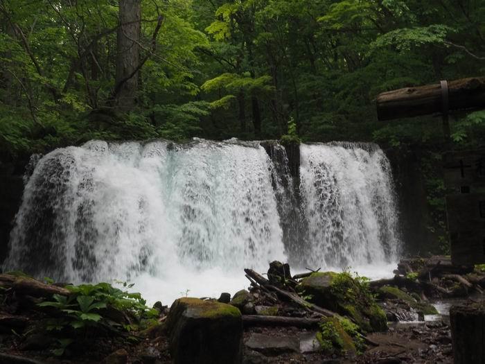 花巻温泉の釜渕の滝の写真