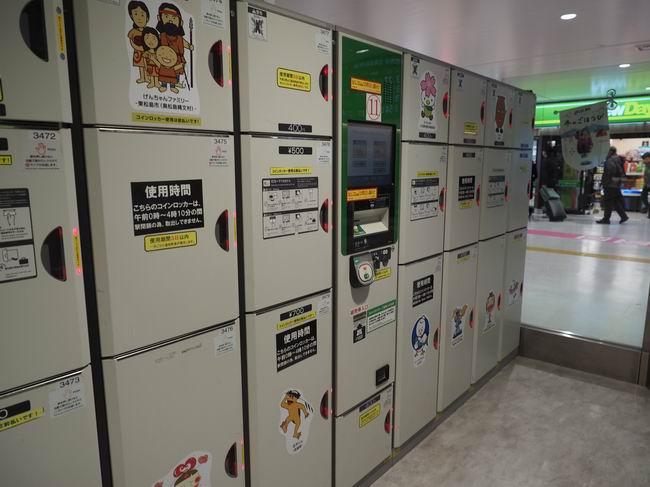 仙台駅のコインロッカー三階の設置場所の風景写真