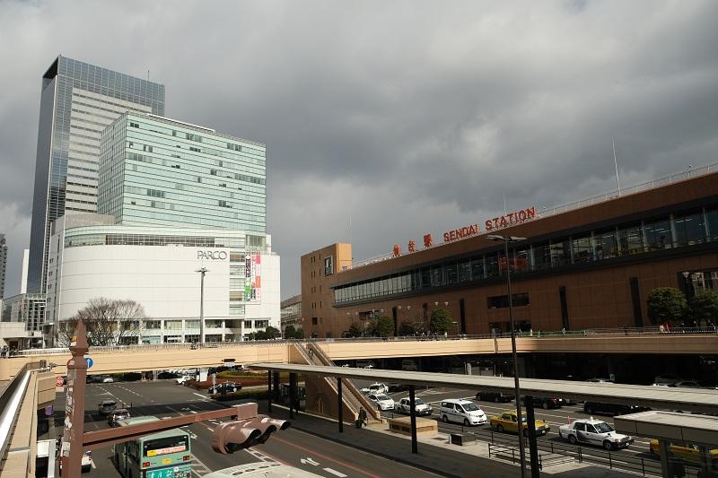 仙台駅の西口の風景写真
