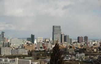 xt3レビューと画質評価仙台城跡公園(青葉城址公園)の仙台市内一望写真2