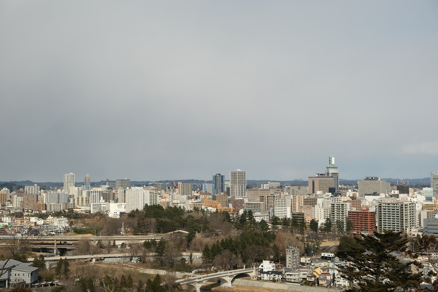 xt3のレビュー画質の評価・仙台城跡公園(青葉城址公園)の仙台市内一望写真5