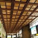 仙台駅の天井の風景写真