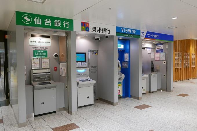 仙台駅3階のATMの風景写真