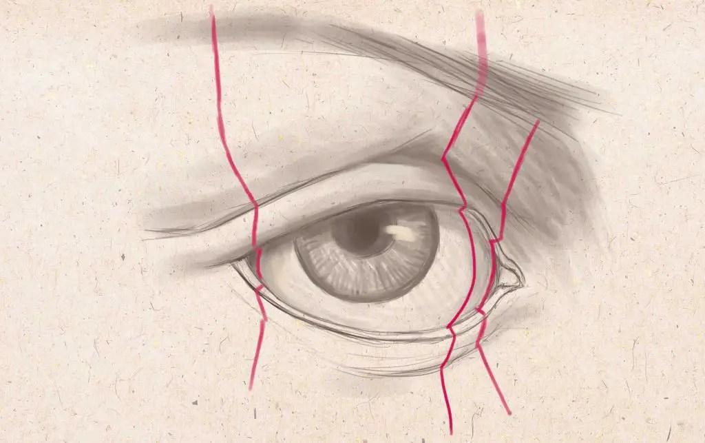 眉毛を描く
