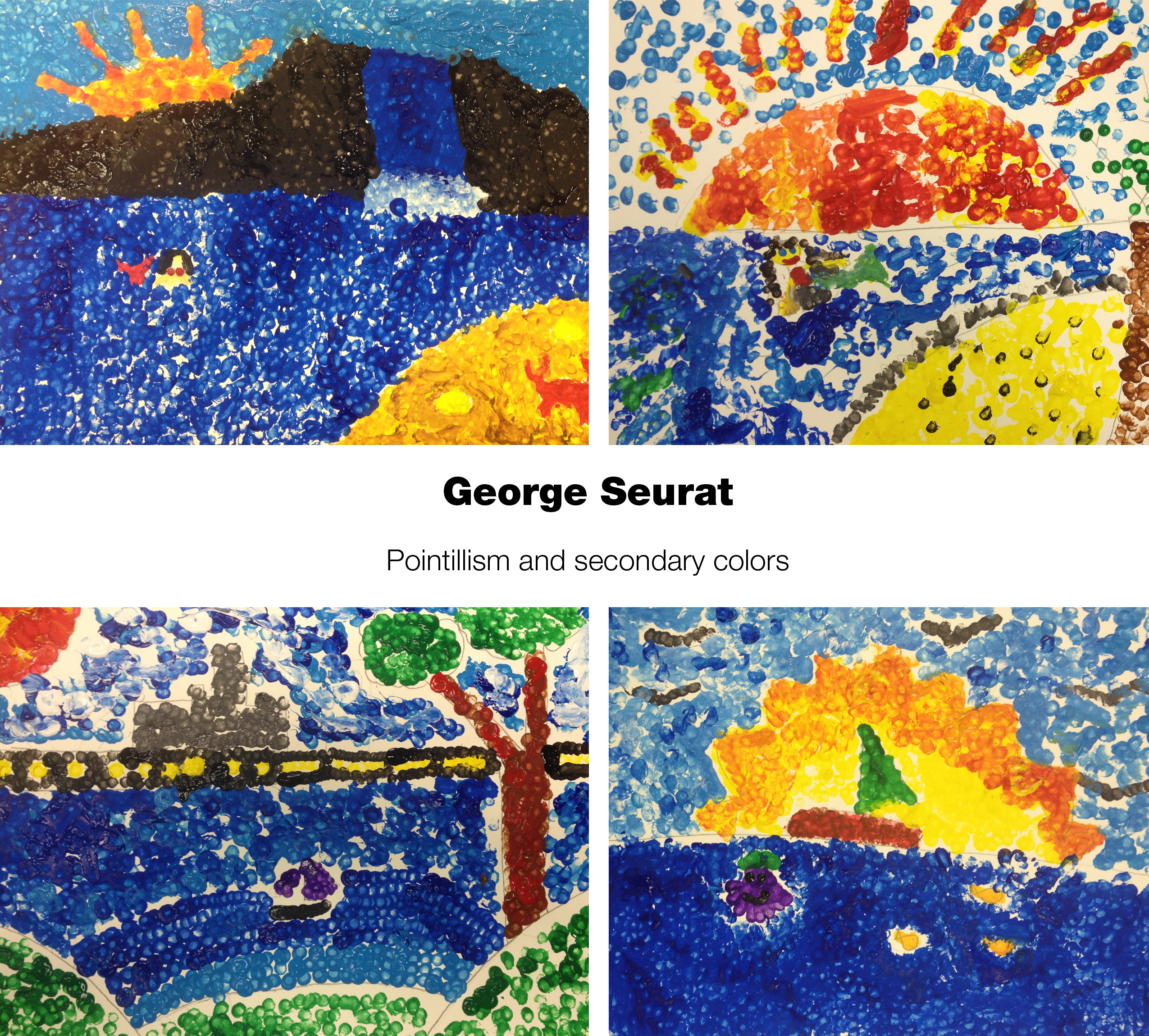 Seurat Pointillism Boats And Secondary Colors