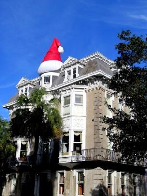 House with a Santa Cap :)