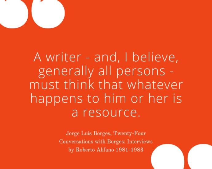 Jorge Luis Borges on Experiences