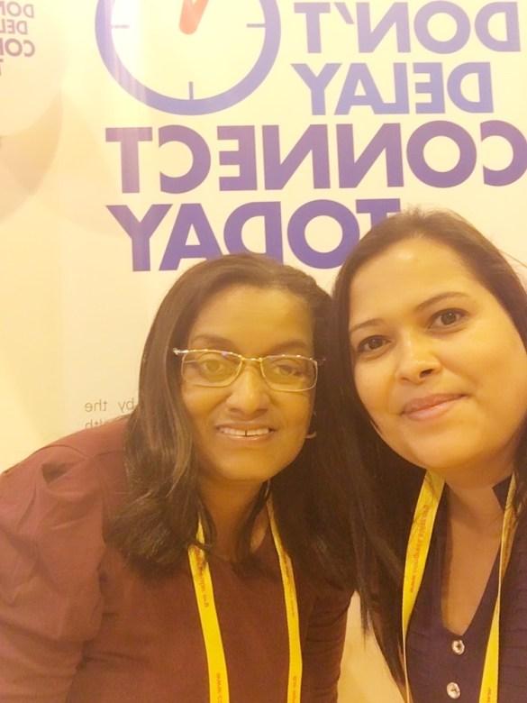 Ana Lúcia e Priscila Torres, no lançamento da campanha no PARE/EULAR.