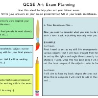 Exam Time Planning for GCSE Art and Photography students