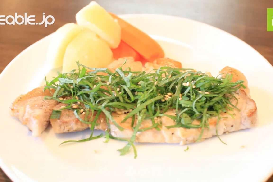 大葉と豚肉の組み合わせが最高!豚肉ソテー大葉乗せの作り方・レシピ