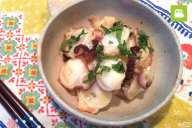 簡単に作れる魚介おつまみ!タコのニンニクおつまみの作り方・レシピ