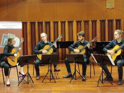 Od lewej - Maria Kozimor, Adam Potoczny, Michał Chmura, Mateusz Wójcik