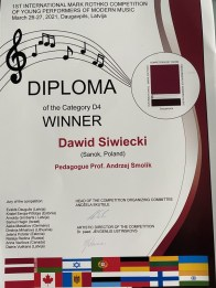 Łotwa Winner Dawid Siwiecki
