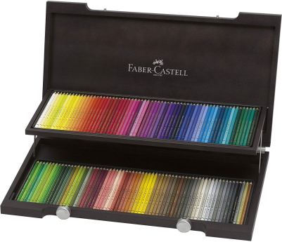 Faber-Castell 120 Polychromos Artist Colour Pencils in Wenge-Stained Wooden Case