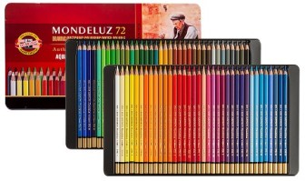 Koh-I-Noor Mondeluz, the best watercolour pencils for beginners to proffessionals.