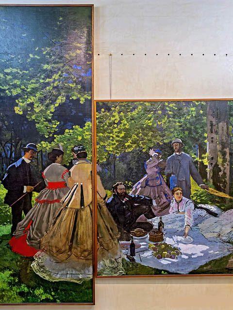завтрак на траве в музее Орсе