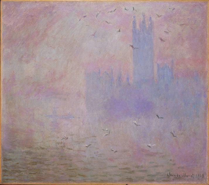Моне Лондон парламент чайки