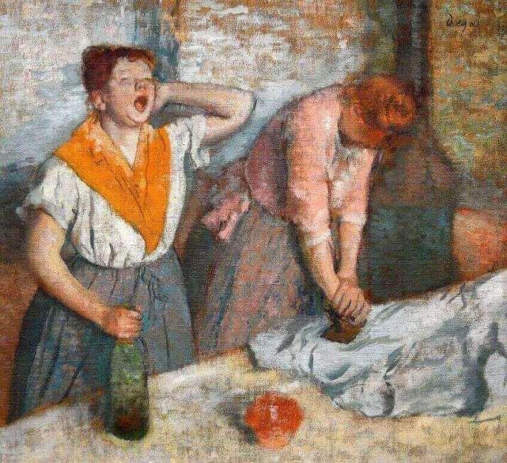 Дега гладильщицы