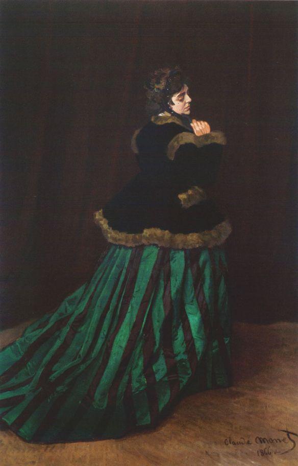 Моне дама в зеленом платье