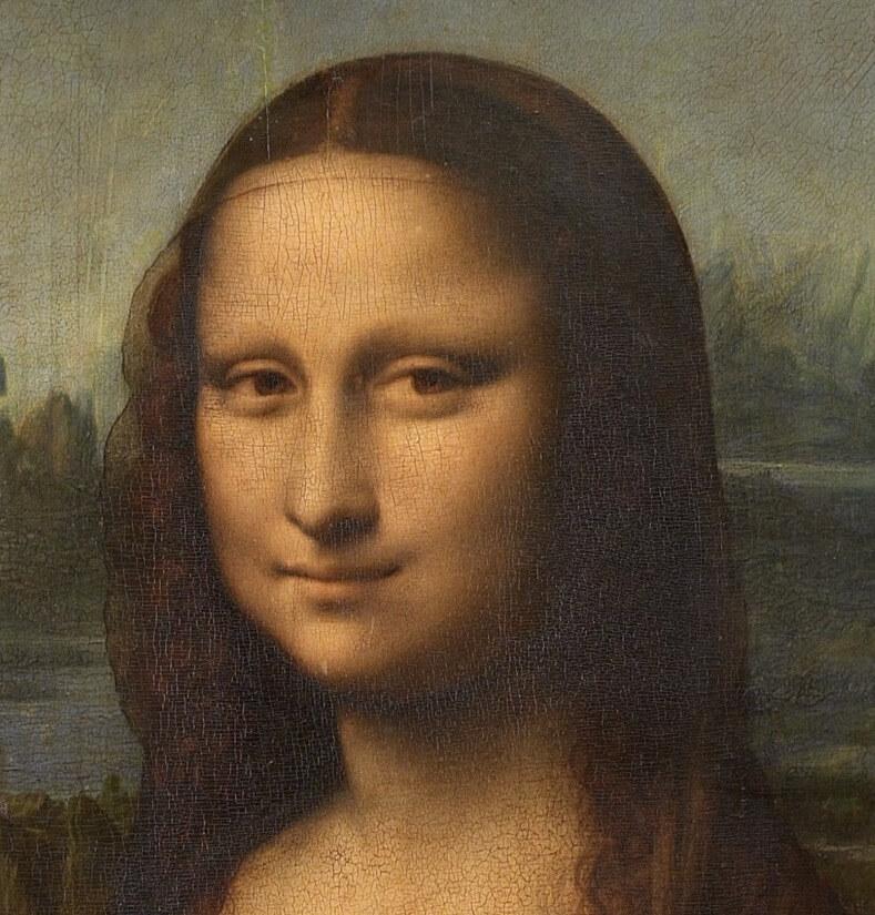 Мона Лиза фрагмент