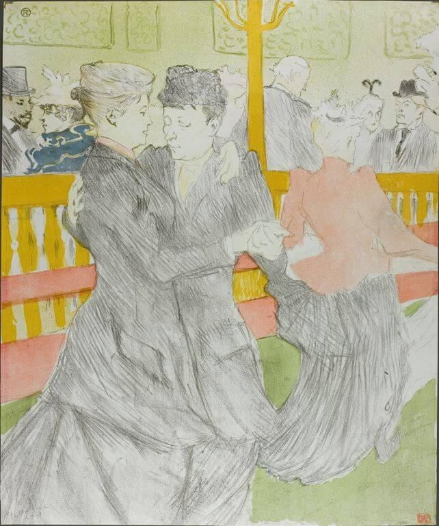 Тулуз-Лотрек танцы в Мулен-Руж