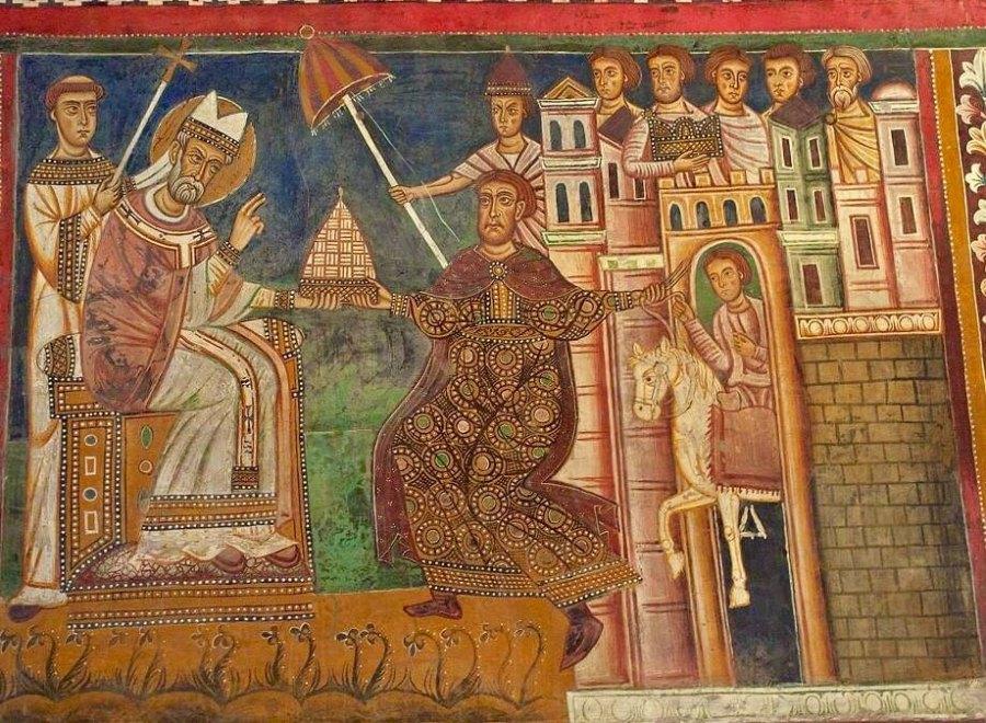 фреска Пожертвования Константина 13 век